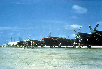 339th Flight Test Squadron - Image: 339th FAWS North American F 82G Twin Mustangs
