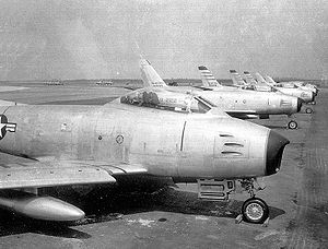 33d Operations Group - North American F-86As at Otis AFB.