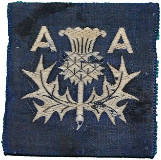 1st Lanarkshire Rifle Volunteers - 3 AA Divisional sign.