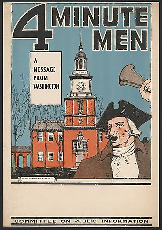 Committee on Public Information - Image: 4 Minute Men 1917 CPI