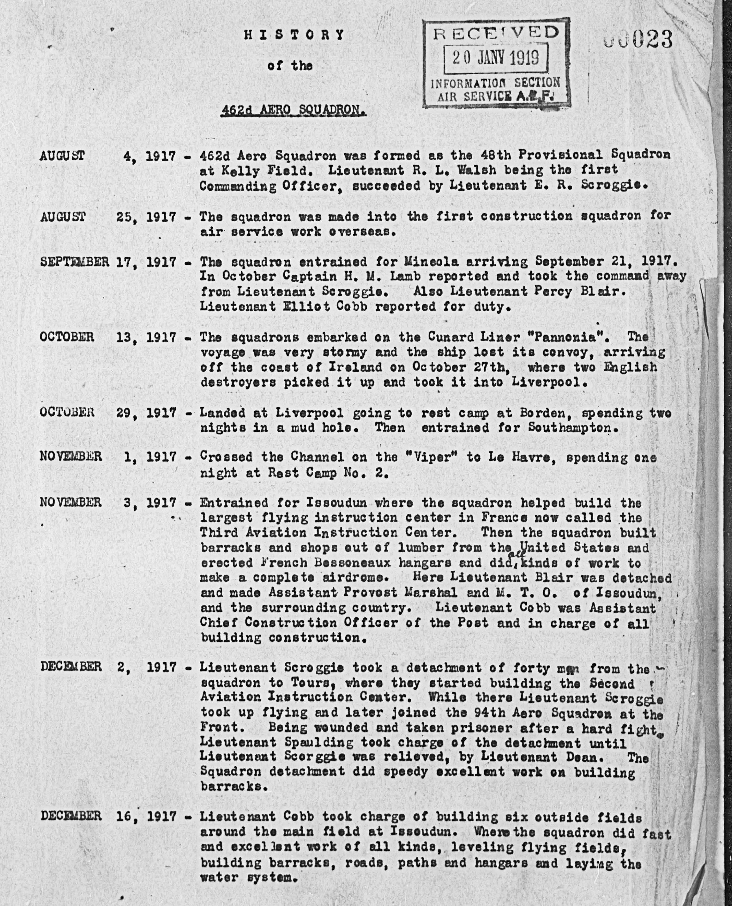 Bmwpany History Pdf: File:462d Aero Squadron