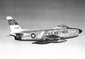 539th Fighter-Interceptor Squadron North American F-86D-45-NA Sabre 52-3936 1954.jpg