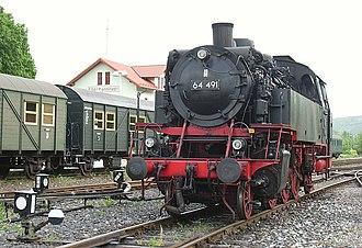 Ebermannstadt - 64 491 of the steam railroad, Dampfbahn Fränkische Schweiz, May 2006