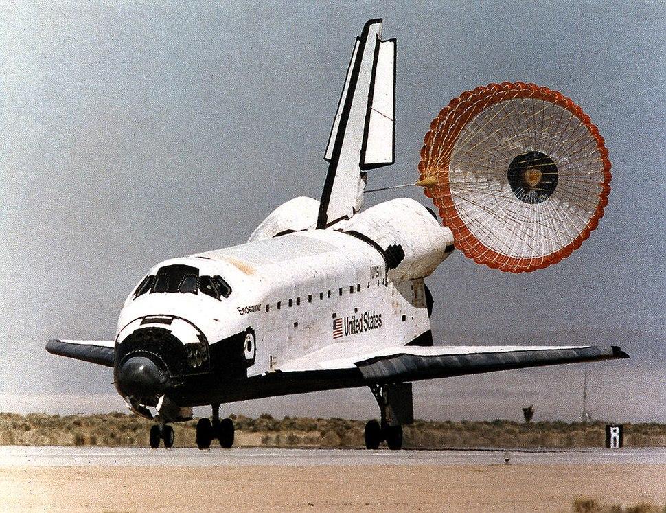 950318 STS67 Endeavour landing