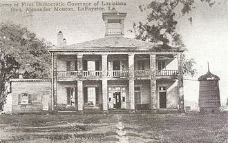 Alexandre Mouton - Governor Mouton's residence at Ile Copal sugar plantation outside Vermilionville.