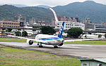 ANA Boeing 787-881 JA829A Departing from Taipei Songshan Airport 20150321c.jpg