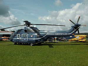 Police aviation - A Eurocopter Super Puma of the Bundespolizei