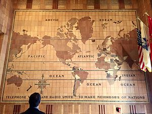 32 Avenue of the Americas - Image: AT&T Long Distance Building Lobby Map