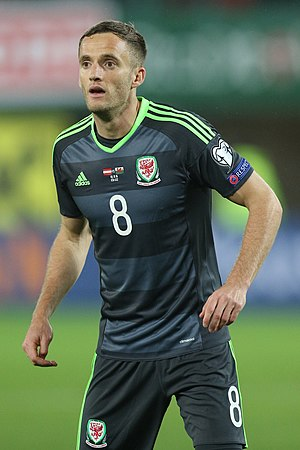 Andy King (footballer, born 1988) - King playing for Wales in 2016