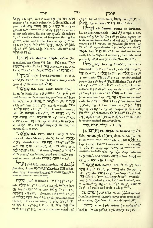 brown driver briggs hebrew lexicon pdf