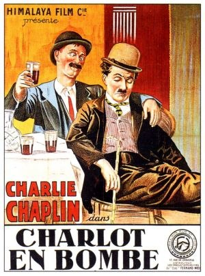 A Night Out (1915 film) - French theatrical poster to A Night Out