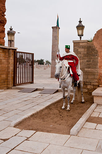 Moroccan Royal Guard - A Royal Moroccan Guard mounted on a horse