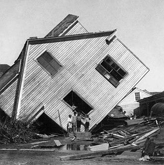 1900 Galveston hurricane - House in Galveston on Avenue N, October 15, 1900