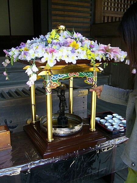File:A birthday of Buddha,hanamatsuri,kanpukuji-temple,katori-city,japan.JPG