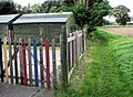 A colourful fence - geograph.org.uk - 986125.jpg