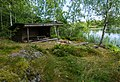 A hiking shelter by the lake Gisslaren, Upplandsleden, Sweden 21.jpg