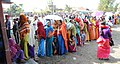 A large number of voters in a queue to cast their vote at a polling booth of Thambal district, during the Manipur Assembly Election on January 28, 2012.jpg