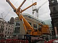 A mobile crane on Boar Lane, Leeds (geograph 3097136).jpg
