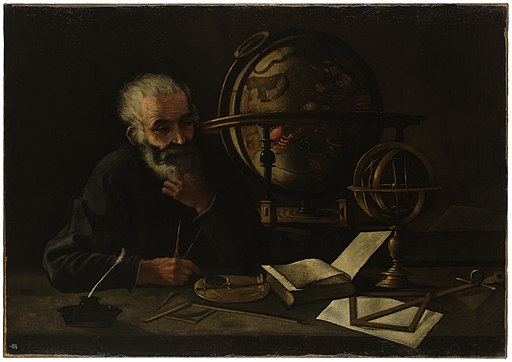 A philosopher with a celestial globe. Wellcome L0051763