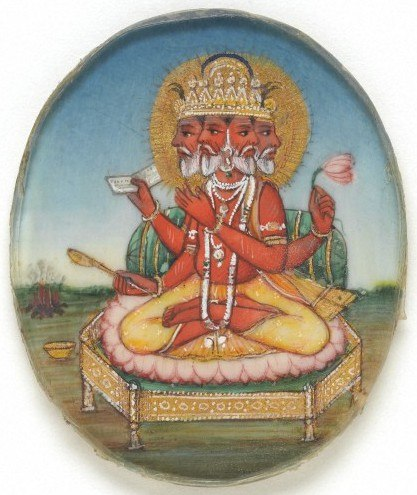 A roundel of Brahma