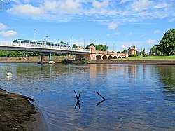 A tram crossing the Trent (geograph 5417244).jpg