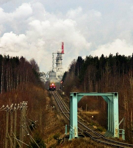 Aanekoski rautatie sellutehdas maisema