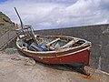 Abandoned fishing boat, Belderg Harbour - geograph.org.uk - 1851729.jpg