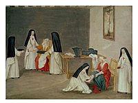 Abbey of Port-Royal, Caring for the Sick by Magdeleine Hortemels c. 1710.jpg