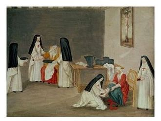 Port-Royal-des-Champs Abbey - Image: Abbey of Port Royal, Caring for the Sick by Magdeleine Hortemels c. 1710
