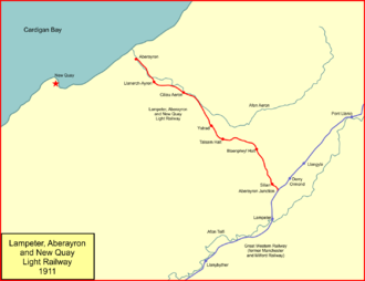 Lampeter, Aberayron and New Quay Light Railway - The Lampeter, Aberayron and New Quay Light Railway in 1911
