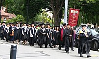 Academic procession at the :en:University of Canterbury graduation ceremony 2004. Photo taken by :en:User:Clawed.