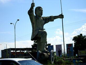 Acarigua - Statue of Portuguesa in December 5 Square (Plaza del 5 de Diciembre)