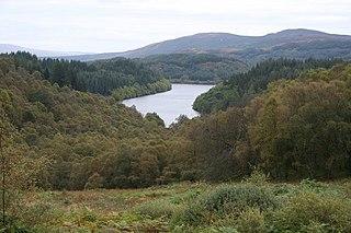 Queen Elizabeth Forest Park forest in Stirling, Scotland, UK