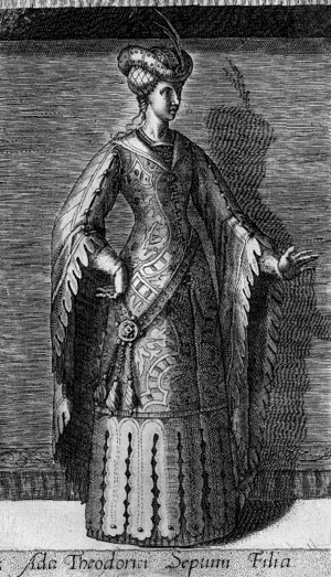 Ada, Countess of Holland - Ada as portrayed in 1578