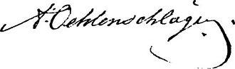 Adam Oehlenschläger - Image: Adam Oehlenschläger signature