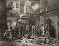 Adam lith. - Cacciatori tirolesi in azione in Milano - litografia - ca. 1850.jpg