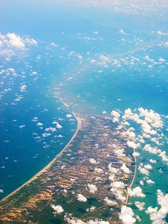Landform off coast of Sri Lanka