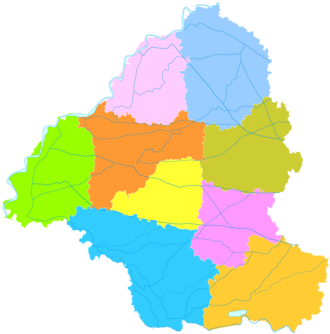 Heze - Image: Administrative Division Heze