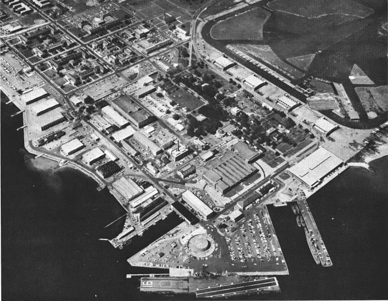 Aerial view of NAS Pensacola c. 1964
