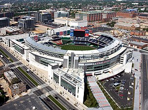 Navy Yard, Washington, D.C. - Aerial view of Nationals Park and the surrounding Navy Yard neighborhood