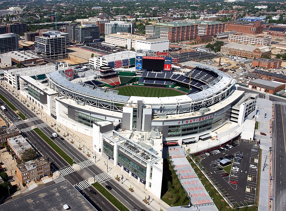 Aerial view of Nationals Park