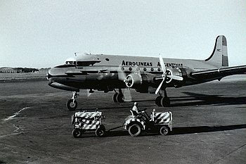 Aerolineas Argentinas DC4 atEZE 1958