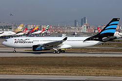 Afriqiyah Airways Airbus A330-202 at Istanbul.jpg