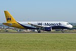 Airbus A320-214 'G-ZBAT' Monarch Airlines (40087445370).jpg