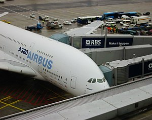 The Airbus A380 at Frankfurt Airport