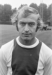 Ajax-selectie presenteert zich aan de pers, nummer 9 Horst Blankenburg , nummer , Bestanddeelnr 925-7441