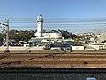 Akashi City Planetarium from train of Sanyo Electric Railway.jpg