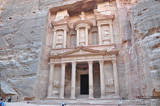 The Red Sea Sharks - The Treasury (Al Khazneh) in Petra depicted in the book