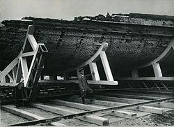 Alaggio prima nave di Nemi - Museo scienza e tecnologia Milano As 00206.jpg