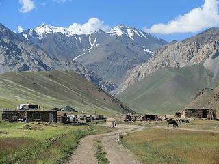 mountain range in Central Asia